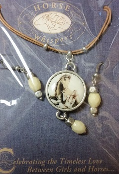 Apple of My Eye Necklace and Earring Set - Horse Whispers