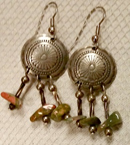 Small Silver Concho Earrings