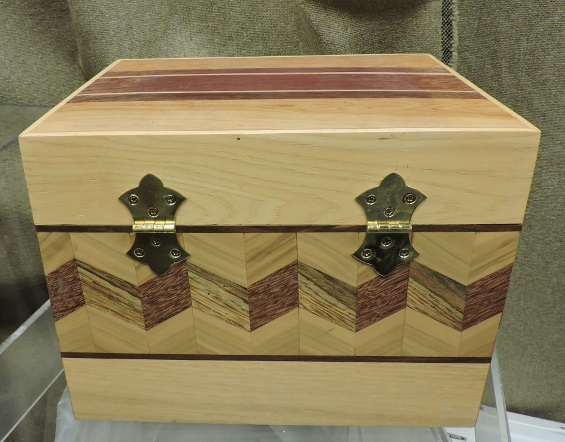 Hinged Wooden inlaid wooden box
